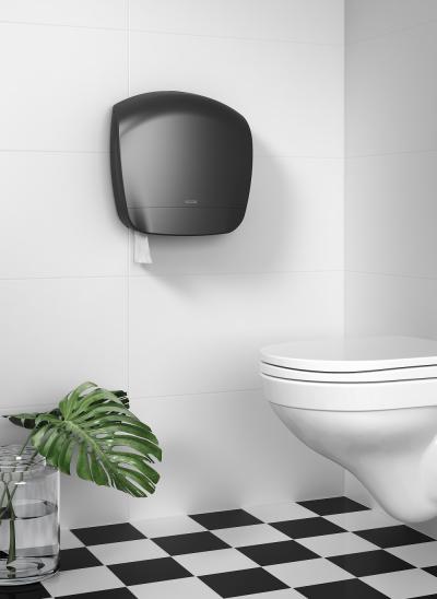 Katrin Jumbo toalettpapír-adagoló, fekete