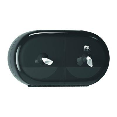 Tork SmartOne® Mini dupla tekercses toalettpapír-adagoló fekete